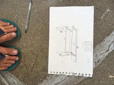 Total technische Zeichnung